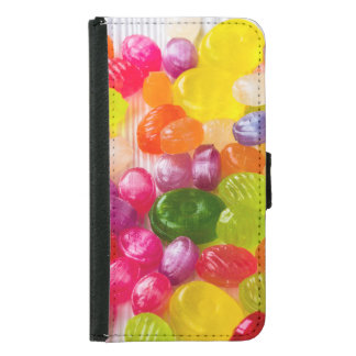 Funny Colorful Sweet Candies Food Lollipop Picture Samsung Galaxy S5 Wallet Case