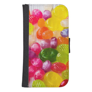 Funny Colorful Sweet Candies Food Lollipop Picture Samsung S4 Wallet Case