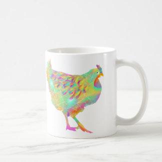 Funny Colourful Disco Chicken Quirky Art Design Coffee Mug
