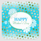 Funny Colourful Polka Dots for Mother's Day Square Sticker
