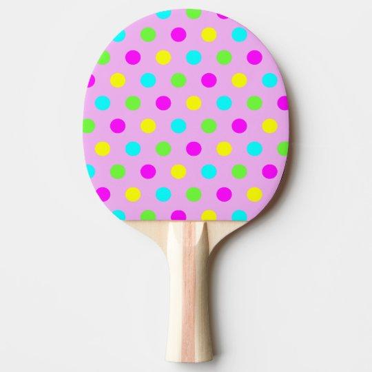 Funny Colourful Polka Dots - Ping Pong Paddle