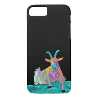 Funny Colourful Screaming Goat Animal Art Design iPhone 8/7 Case