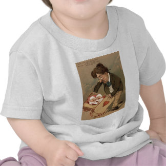 Funny Comedy Father Rocking Baby Cradle Tshirt