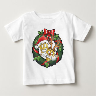 Funny Comedy & Tragedy Christmas Masks Baby T-Shirt