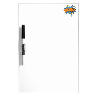 Funny Comic Cartoon Explosion with Nice WoW Text Dry-Erase Boards