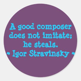 Funny Composer Quotes Sticker - Stravinsky