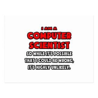 Funny Computer Scientist .. Highly Unlikely Postcard