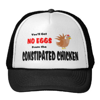 Funny Constipated Chicken Mesh Hat