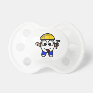 funny constructive dude pacifier