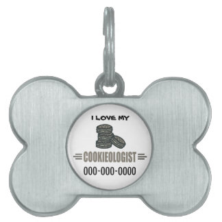 Funny Cookies Pet ID Tag