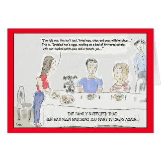 Funny Cooking Cartoon Birthday Greeting Card