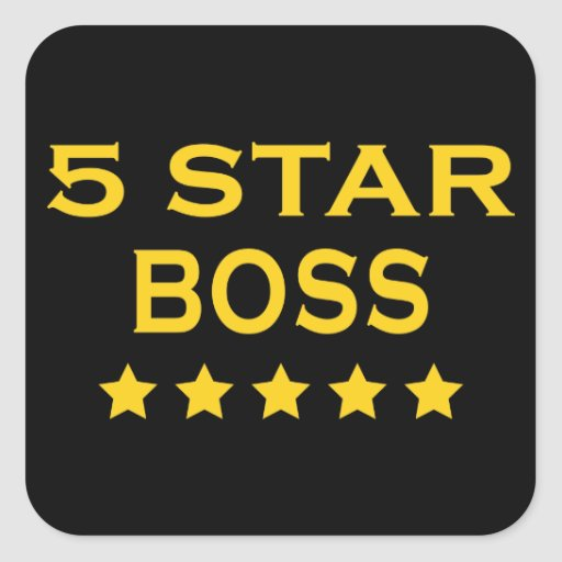 Funny Cool Bosses : Five Star Boss Stickers