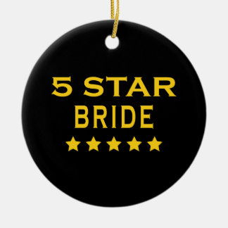 Funny Cool Brides : Five Star Bride Ornament