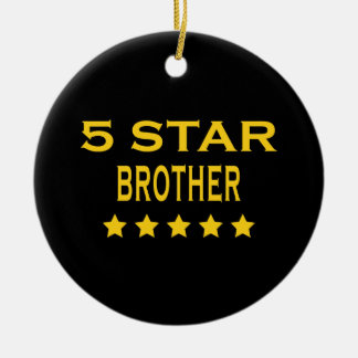 Funny Cool Brothers : Five Star Brother Christmas Ornament