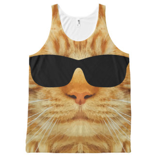 Funny Cool Cat All-Over-Print Tank Top