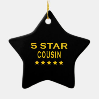 Funny Cool Cousins : Five Star Cousin Christmas Ornament