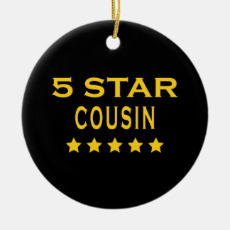 Funny Cool Cousins : Five Star Cousin Christmas Tree Ornament