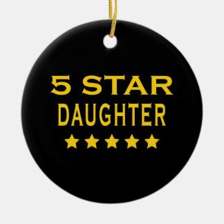 Funny Cool Gifts : Five Star Daughter Christmas Ornament
