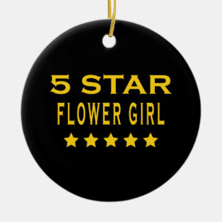 Funny Cool Gifts : Five Star Flower Girl Christmas Ornaments