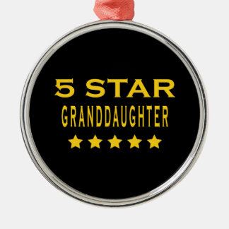 Funny Cool Gifts : Five Star Granddaughter Christmas Ornament