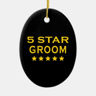Funny Cool Gifts : Five Star Groom Christmas Tree Ornaments