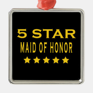 Funny Cool Gifts : Five Star Maid of Honor Christmas Ornaments