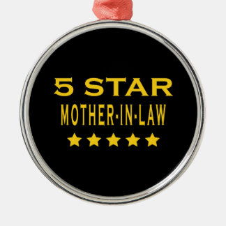 Funny Cool Gifts : Five Star Mother in Law Ornament