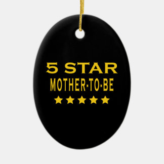 Funny Cool Gifts : Five Star Mother to Be Ornaments