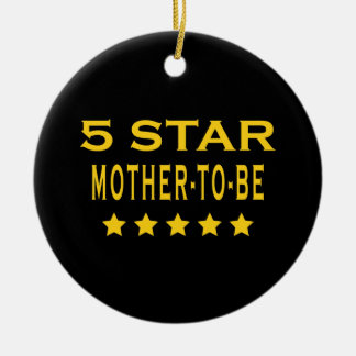 Funny Cool Gifts : Five Star Mother to Be Christmas Tree Ornaments