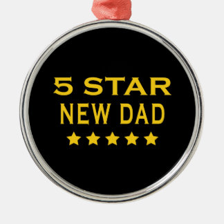 Funny Cool Gifts : Five Star New Dad Christmas Tree Ornaments