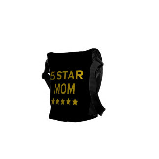 Funny Cool Gifts for Moms : Five Star Mom Courier Bag