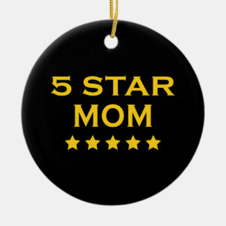 Funny Cool Gifts for Moms : Five Star Mom Ornaments