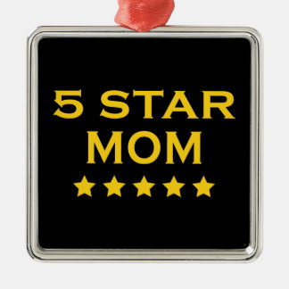 Funny Cool Gifts for Moms : Five Star Mom Christmas Ornaments