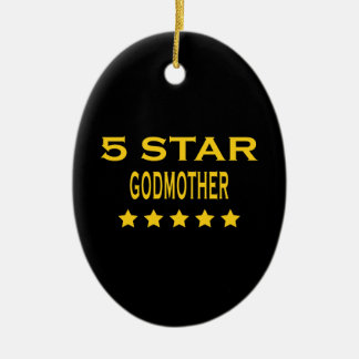 Funny Cool Godmothers : Five Star Godmother Christmas Ornaments