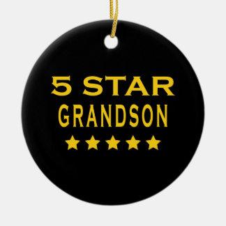 Funny Cool Grandsons : Five Star Grandson Ornament