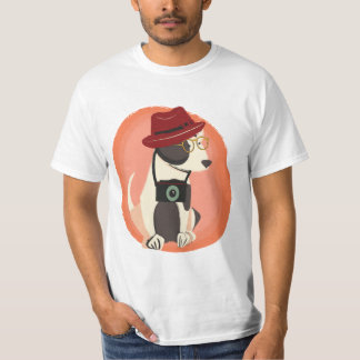 Funny cool hipster dog T-Shirt