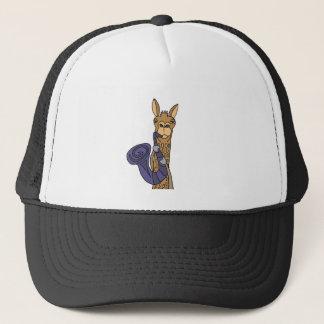 Funny Cool Llama Playing Saxophone Original Art Trucker Hat