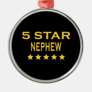 Funny Cool Nephews : Five Star Nephew Christmas Ornaments
