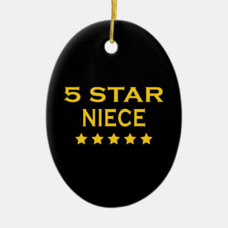 Funny Cool Nieces : Five Star Niece Christmas Ornament