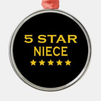 Funny Cool Nieces : Five Star Niece Ornaments
