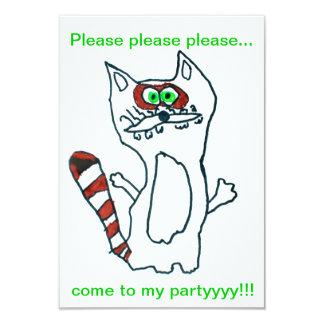 "Funny Cool Raccoon - Cute Animal Birthday Friend 3.5"" X 5"" Invitation Card"