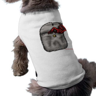Funny cool red devil in the pocket dog shirt