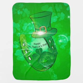 Funny, cool St. Patrick's Day hat Stroller Blanket