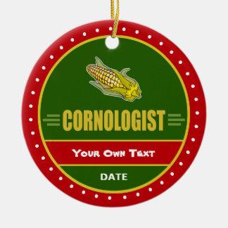 Funny Corn Ceramic Ornament
