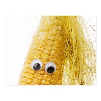 Funny Corn with Eye Postcard