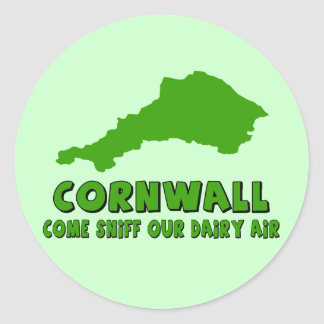 Funny Cornwall Classic Round Sticker