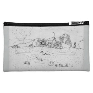 Funny Cosmetic Bag with Cartoon 'The Mole Slayer'