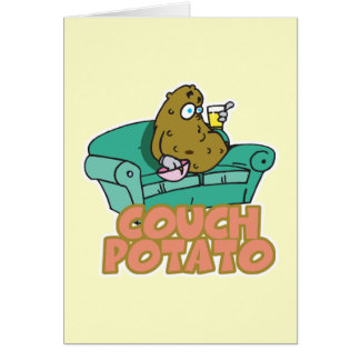 Funny Couch Potato Card