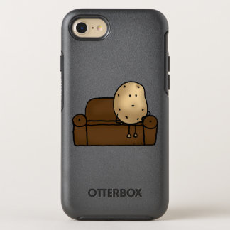 funny couch potato cartoon OtterBox symmetry iPhone 7 case
