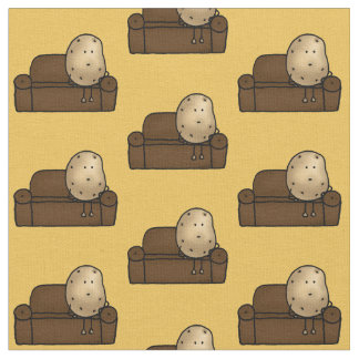 Funny couch potato fabric